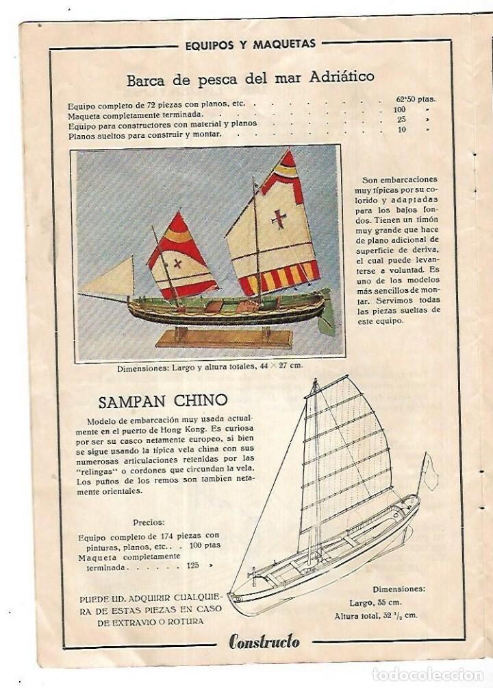 Hobbys: CONSTRUCTO. CATALOGO DE MINIATURA NAVAL. 1945. VER FOTOS DETALLADAMENTE - Foto 8 - 131477946