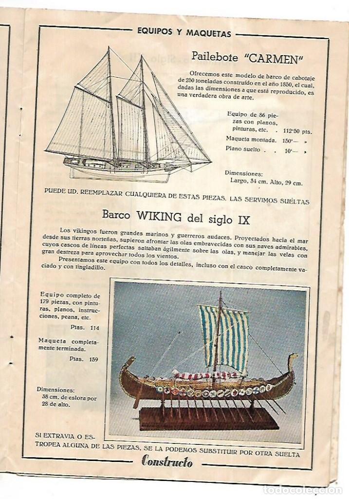 Hobbys: CONSTRUCTO. CATALOGO DE MINIATURA NAVAL. 1945. VER FOTOS DETALLADAMENTE - Foto 9 - 131477946