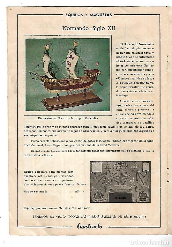 Hobbys: CONSTRUCTO. CATALOGO DE MINIATURA NAVAL. 1945. VER FOTOS DETALLADAMENTE - Foto 10 - 131477946