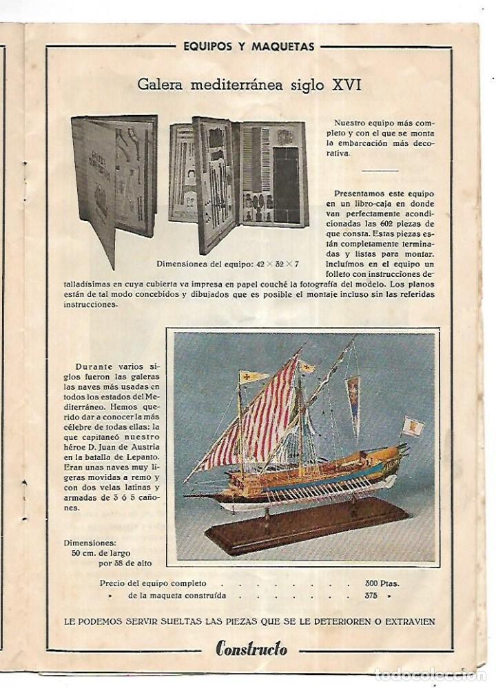 Hobbys: CONSTRUCTO. CATALOGO DE MINIATURA NAVAL. 1945. VER FOTOS DETALLADAMENTE - Foto 11 - 131477946