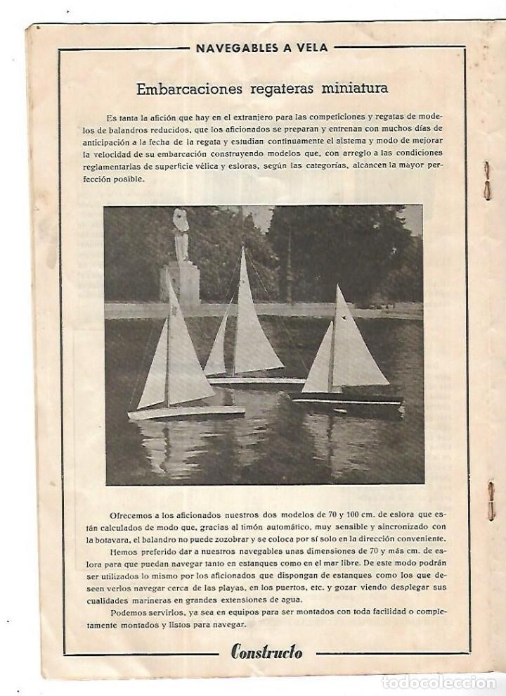Hobbys: CONSTRUCTO. CATALOGO DE MINIATURA NAVAL. 1945. VER FOTOS DETALLADAMENTE - Foto 12 - 131477946