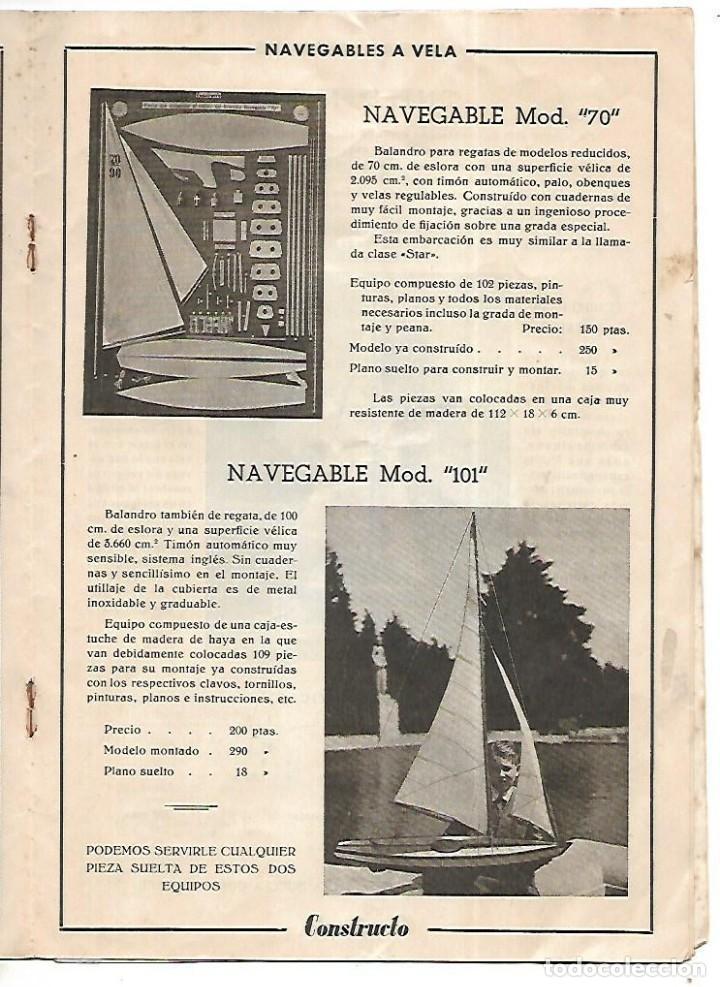 Hobbys: CONSTRUCTO. CATALOGO DE MINIATURA NAVAL. 1945. VER FOTOS DETALLADAMENTE - Foto 13 - 131477946