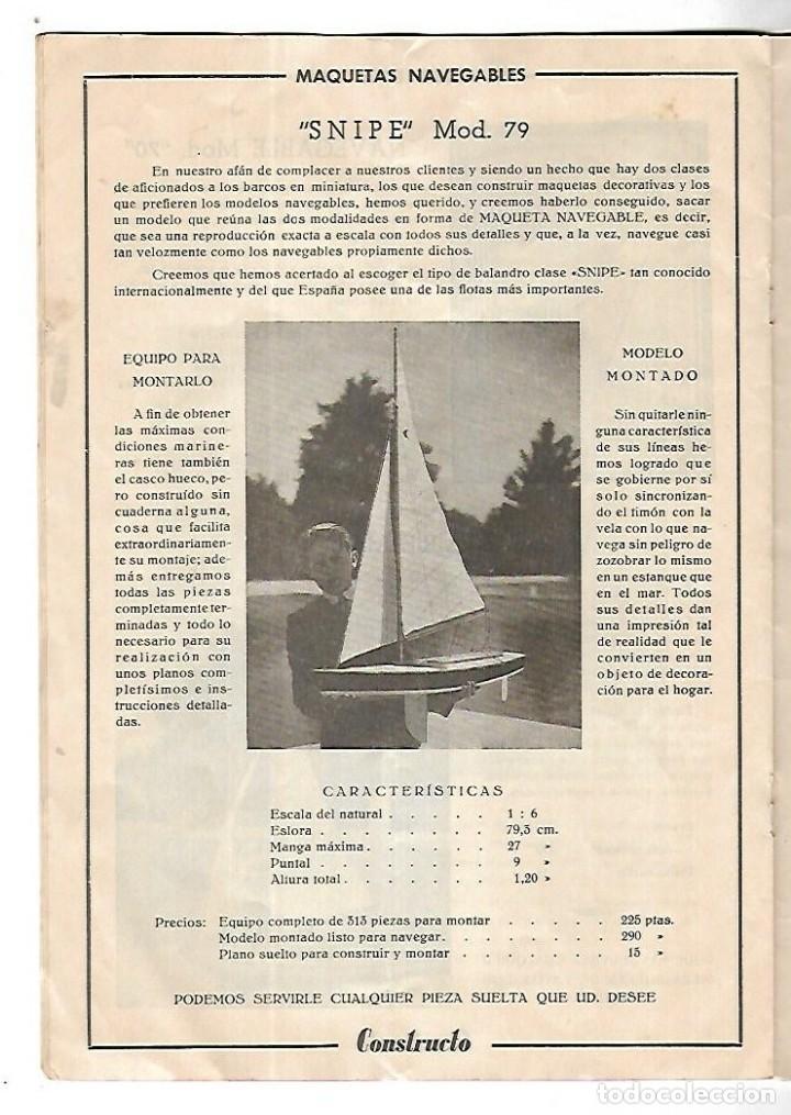 Hobbys: CONSTRUCTO. CATALOGO DE MINIATURA NAVAL. 1945. VER FOTOS DETALLADAMENTE - Foto 14 - 131477946