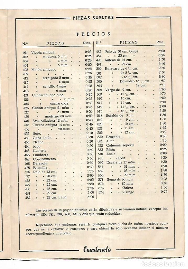 Hobbys: CONSTRUCTO. CATALOGO DE MINIATURA NAVAL. 1945. VER FOTOS DETALLADAMENTE - Foto 17 - 131477946
