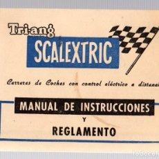 Hobbys: MANUAL DE INSTRUCCIONES Y REGLAMENTO TRI-ANG SCALEXTRIC Y COCHE COOPER FORM. 1.. Lote 147868054