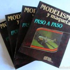 Hobbys: MODELISMO Y MAQUETAS PASO A PASO. 4 TOMOS. COMPLETO HOBBY PRESS, 1984. VER FOTOGRAFÍAS. Lote 150250746