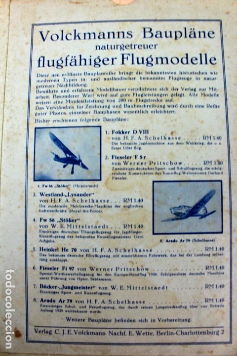 Hobbys: PR-294 AEROMODELISMO. VOLCKMANNS BAUPLÄNE. MODELO BÜCKER JUNGMEISTER. CON PLANO MONTAJE. AÑOS 40-50 - Foto 3 - 151417710