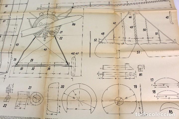 Hobbys: PR-293 AEROMODELISMO.VOLCKMANNS BAUPLÄNE. MODELO JAGDEINSITZER FOKKER. CON PLANO MONTAJE. AÑOS 40-50 - Foto 7 - 151418922
