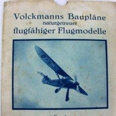 Hobbys: PR-292 AEROMODELISMO. VOLCKMANNS BAUPLÄNE. MODELO FW56 STÖSSER. CON PLANO MONTAJE. AÑOS 40-50. Lote 151419614