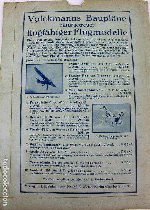 Hobbys: PR-291 AEROMODELISMO. VOLCKMANNS BAUPLÄNE. MODELO WESTLAND LYSANDER. CON PLANO MONTAJE. AÑOS 40-50 - Foto 2 - 151420018