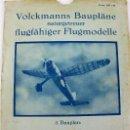 Hobbys: PR-291 AEROMODELISMO. VOLCKMANNS BAUPLÄNE. MODELO WESTLAND LYSANDER. CON PLANO MONTAJE. AÑOS 40-50. Lote 151420018