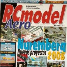 Hobbys: RCMODEL AERO REVISTA DE RADIO CONTROL Y MODELISMO. Nº 79 FERIA DE NUREMBERG 2008. Lote 158548222