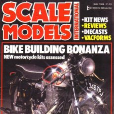 Hobbys: SCALE MODELS AÑO 1986 MAYO. Lote 169395892
