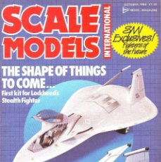 Hobbys: SCALE MODELS AÑO 1986 OCTUBRE. Lote 169396632