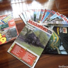 Hobbys: LOTE 18 REVISTAS MAQUETREN 1992/1995. Lote 182504037