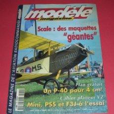 Hobbys: REVUE MODELE MAGAZINE AVIATION RADIOCOMMANDÉE Nº 560 +PLAN ENCARTE CURTISS P-40 NUEVA NOUVEAU. Lote 183045157