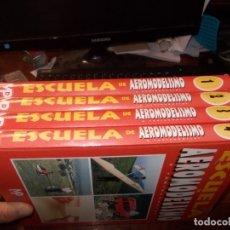 Hobbys: ESCUELA DE AEROMODELISMO, 4 TOMOS. MULTIPRESS 1.997. Lote 183179980