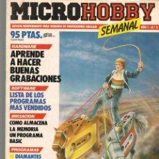 Hobbys: MICROHOBBY. Nº 9. REVISTA INDEPENDIENTE PARA USUARIOS DE ORDENADORES SINCLAIR.(P/B4). Lote 189423978