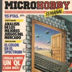 Hobbys: MICROHOBBY. Nº 2, REVISTA INDEPENDIENTE PARA USUARIOS DE ORDENADORES SINCLAIR.(P/B4). Lote 189425497
