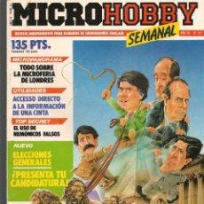 Hobbys: MICROHOBBY. Nº 81. REVISTA INDEPENDIENTE PARA USUARIOS DE ORDENADORES SINCLAIR.(P/B4). Lote 189425587