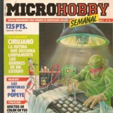 Hobbys: MICROHOBBY. Nº 54. REVISTA INDEPENDIENTE PARA USUARIOS DE ORDENADORES SINCLAIR.(P/B4). Lote 189426517