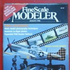 Hobbys: FINE SCALE MODELLER AÑO 1986 AGOSTO. Lote 198969745