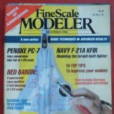 Hobbys: FINE SCALE MODELLER AÑO 1986 DICIEMBRE. Lote 198969897