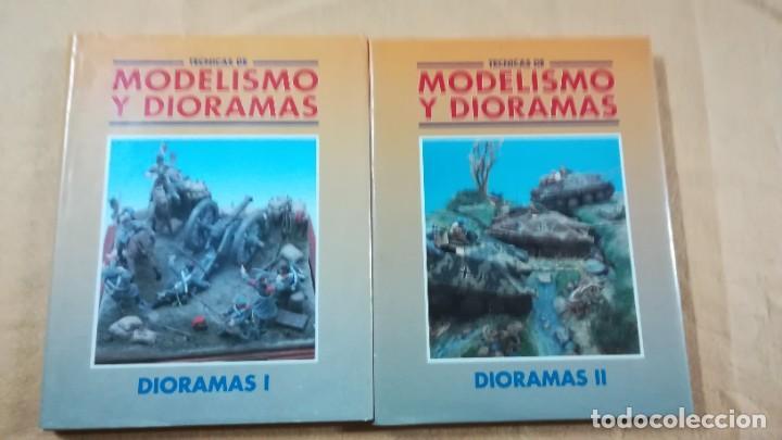 TECNICAS DE MODELISMO Y DIORAMAS - 2 TOMOS DE DIORAMAS - EDICIONES GENESIS (Juguetes - Modelismo y Radiocontrol - Revistas)