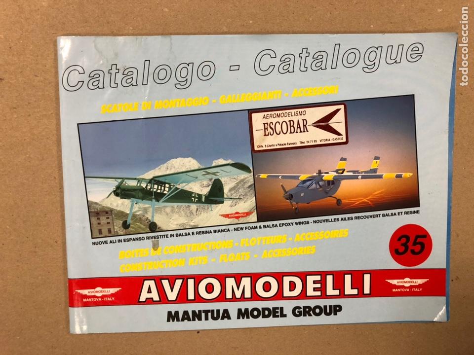 AVIOMODELLI (MANTUA MODEL GROUP). CATÁLOGO MODELISMO AVIONES. 36 PÁGINAS. (Juguetes - Modelismo y Radiocontrol - Revistas)