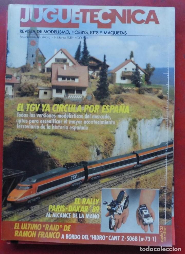 JUGUETETÉCNICA AÑO 1989 MARZO (Juguetes - Modelismo y Radiocontrol - Revistas)