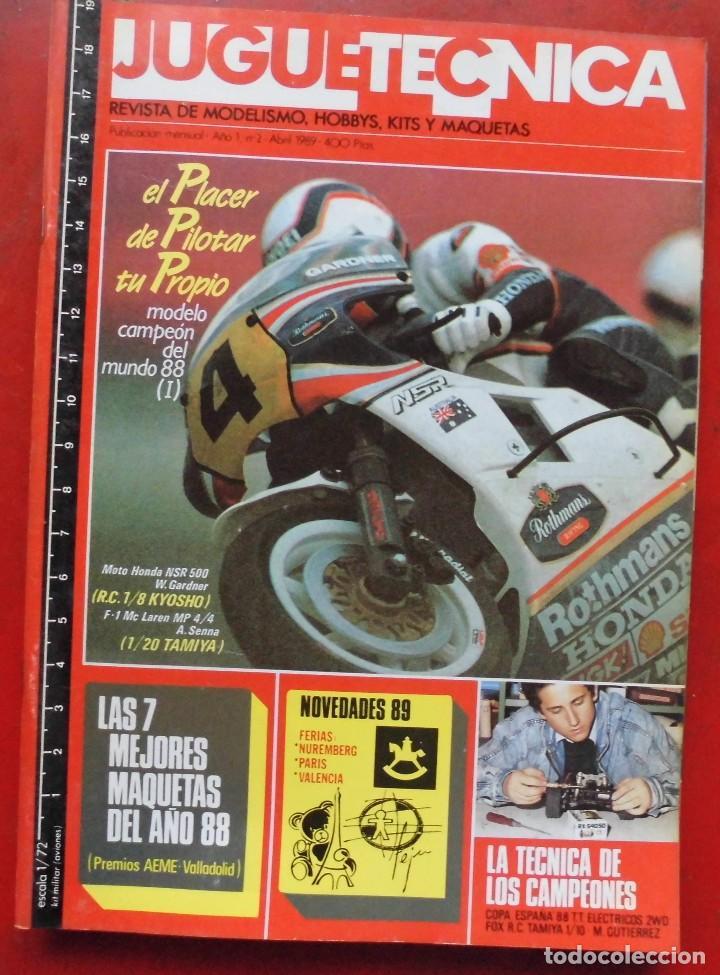 JUGUETETÉCNICA AÑO 1989 ABRIL (Juguetes - Modelismo y Radiocontrol - Revistas)