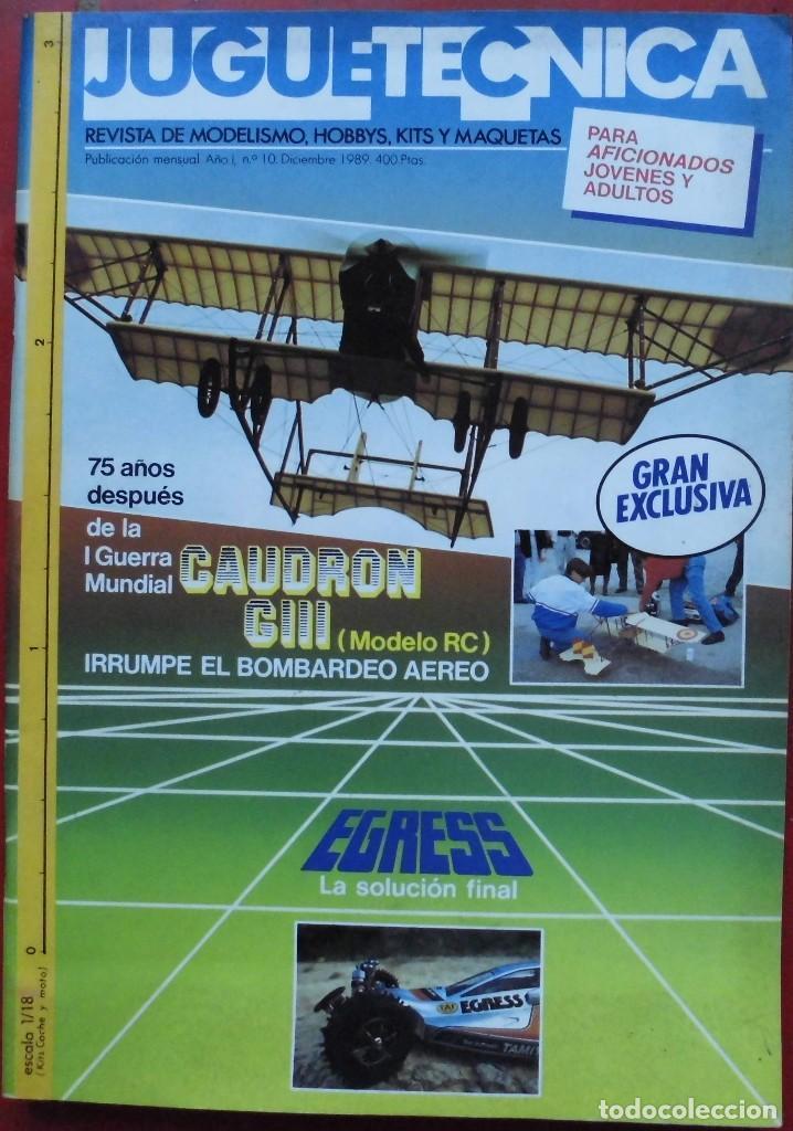 JUGUETETÉCNICA AÑO 1989 DICIEMBRE (Juguetes - Modelismo y Radiocontrol - Revistas)