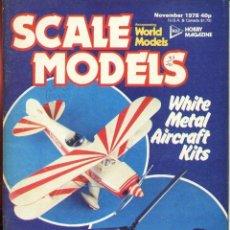 Hobbys: SCALE MODELS AÑO 1978 NOVIEMBRE. Lote 233835505