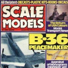 Hobbys: SCALE MODELS AÑO 1981 ENERO. Lote 233950155