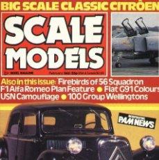 Hobbys: SCALE MODELS AÑO 1981 FEBRERO. Lote 233950195