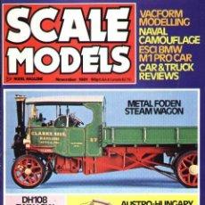 Hobbys: SCALE MODELS AÑO 1981 NOVIEMBRE. Lote 233950270