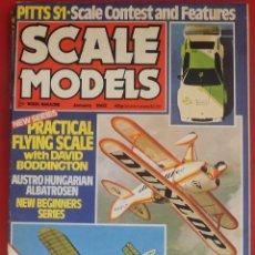 Hobbys: SCALE MODELS AÑO 1982 ENERO. Lote 233950335
