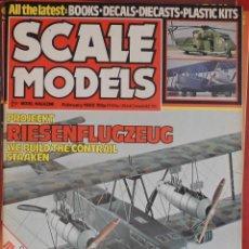 Hobbys: SCALE MODELS AÑO 1982 FEBRERO. Lote 233950345