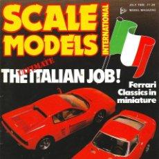 Hobbys: SCALE MODELS AÑO 1986 JULIO. Lote 233999870