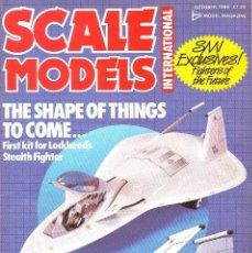 Hobbys: SCALE MODELS AÑO 1986 OCTUBRE. Lote 234001210