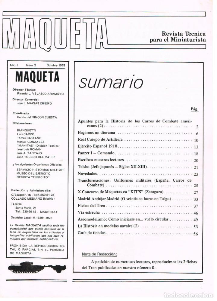 Hobbys: MAQUETA, revista técnica del miniaturista. nº 2. 1978, 60 páginas, ver contenido y ejemplo interior - Foto 2 - 240427295