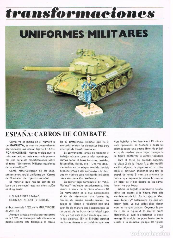 Hobbys: MAQUETA, revista técnica del miniaturista. nº 2. 1978, 60 páginas, ver contenido y ejemplo interior - Foto 8 - 240427295