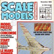 Hobbys: SCALE MODELS AÑO 1983 NOVIEMBRE. Lote 243518055