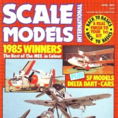 Hobbys: SCALE MODELS AÑO 1985 ABRIL. Lote 243535050
