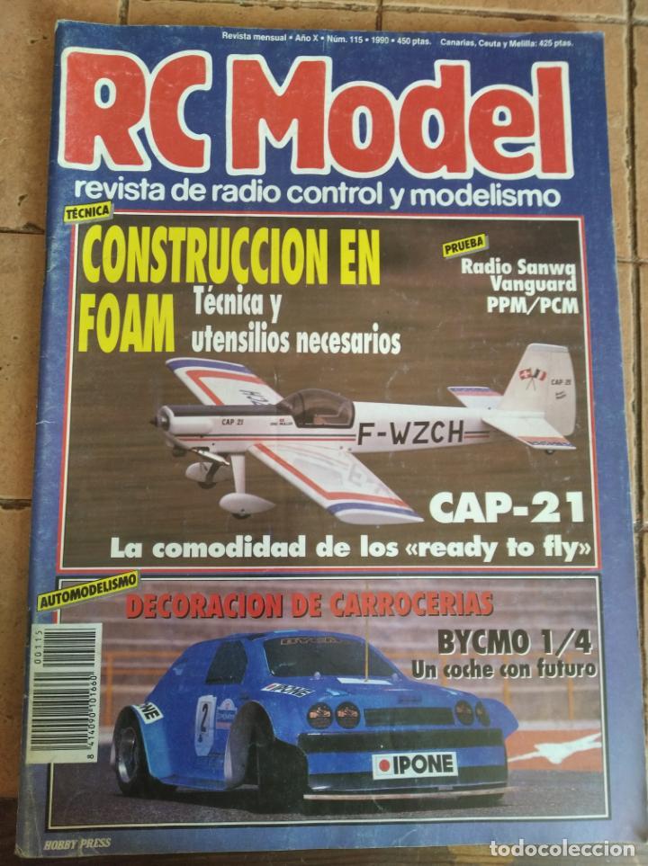 RC MODEL, REVISTA DE RADIOCRONTROL Y MODELISMO - AÑO 1990 - Nº 115 (Juguetes - Modelismo y Radiocontrol - Revistas)