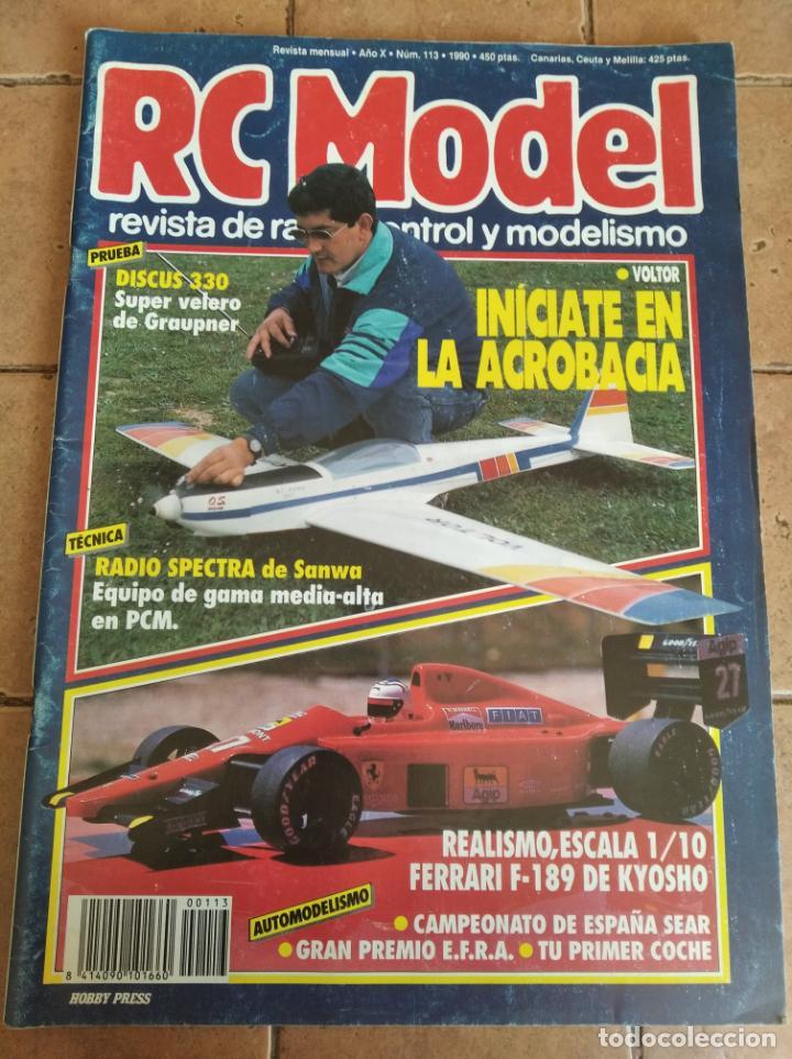 RC MODEL, REVISTA DE RADIOCRONTROL Y MODELISMO - AÑO 1990 - Nº 113 (Juguetes - Modelismo y Radiocontrol - Revistas)