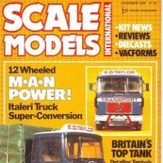 Hobbys: SCALE MODELS AÑO 1986 DICIEMBRE. Lote 269026169