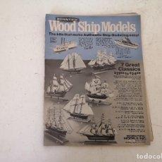 Hobbys: PUBLICACIÓN DE MODELISMO Y RADIOCONTROL, WOOD SHIP MODELS, 1970´S, EN INGLÉS. Lote 276406963