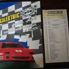 Hobbys: SCALEXTRIC. GUÍA DEL SCALEXTRISTA 5ª EDICIÓN 1992 + TRÍPTICO TARIFAS 1992. EXIN. Lote 287102923
