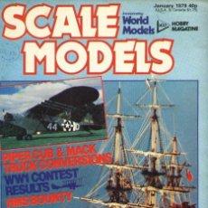 Hobbys: SCALE MODELS AÑO 1979 ENERO. Lote 288866218